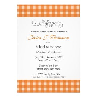 Classic, elegant country yellow plaids graduation card