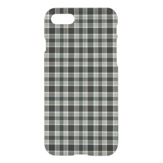 Classic Elegant Dark Preppy Plaid Tartan Pattern iPhone 7 Case
