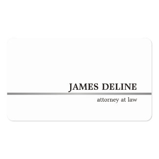Classic Elegant Faux Silver Line Attorney at law Business Card