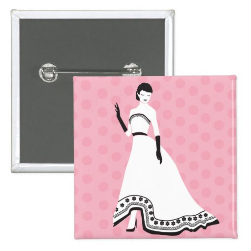 Classic Elegant Girl Button