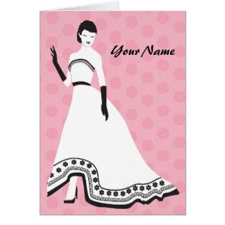 Classic Elegant Girl Card