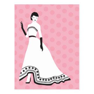 Classic Elegant Girl Postcard