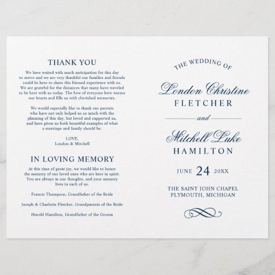 Classic Elegant Navy Blue Wedding Ceremony