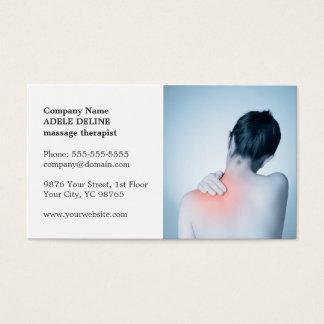 Classic Elegant Photo Massage Therapist Business Card