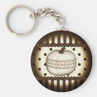 Classic Elegant Pumpkin Key Chain