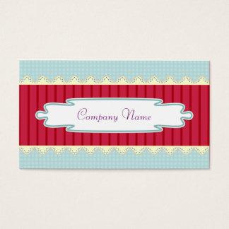 Classic, elegant, sweet professional, craftsman business card