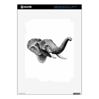 Classic Elephant Decals For iPad 3