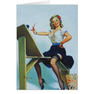 Classic Elvgren 1950s Pin Up Girl Card