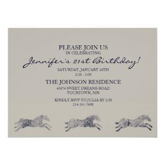 Classic Equestrian Birthday Card