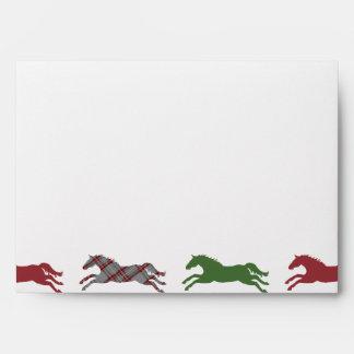 Classic Equestrian Christmas Envelope