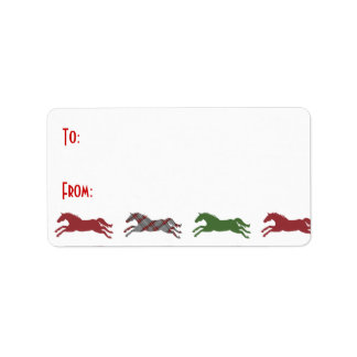 Classic Equestrian Christmas Gift Tags Label