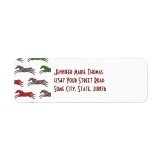 Classic Equestrian Christmas Label