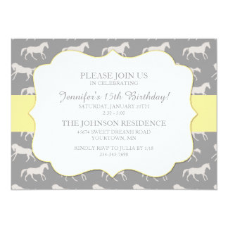 Classic Equestrian girls Fifteenth Birthday Personalized Invites