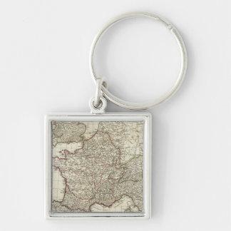 Classic European Map Keychain