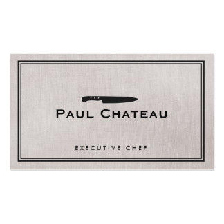 Classic Executive Chef Knife Logo Catering Double-Sided Standard Business Cards (Pack Of 100)