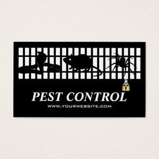 Classic Exterminator Pest Control Iron Grating Business Card