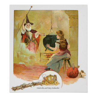 Classic Fairy Tales - Cinderella & Fairy Godmother Poster