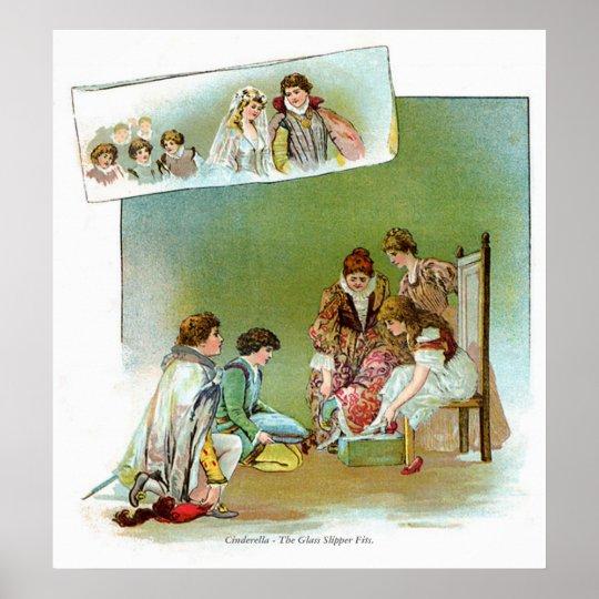 Classic Fairy Tales - Cinderella - Glass Slipper Poster