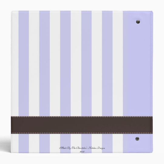 Classic Family Recipe Binder Blue/Purple