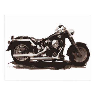 Classic Fat Boy Motorcycle Postcard