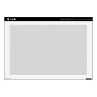 "Classic Faux Linen Silver Grey Decal For 17"" Laptop"