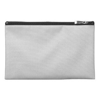 Classic Faux Linen Silver Grey Travel Accessory Bag