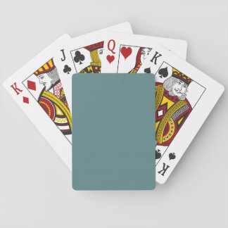 Classic Faux Linen Smalt Blue Playing Cards