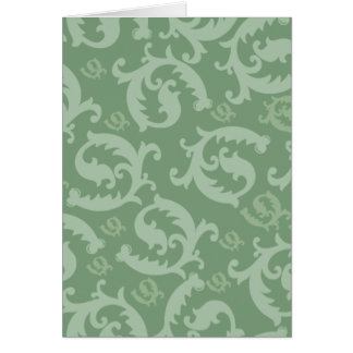 Classic Feathered Damask Card