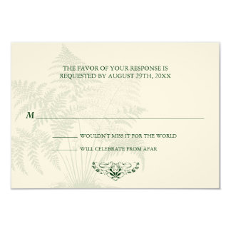 Classic Ferns RSVP Reply Card