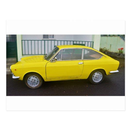 Classic Fiat 850 Sport. Postcard