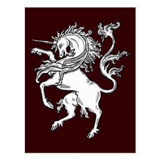 Classic Fierce Unicorn Post Cards