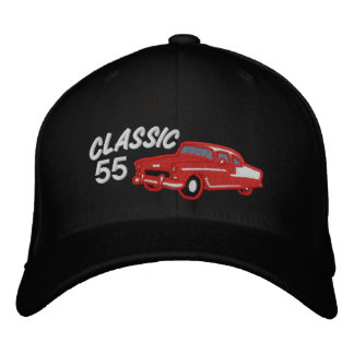 Classic Fifties Vintage Car Customizable Year Embroidered Hat