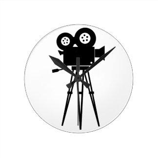 Classic Film Camera Round Wall Clock