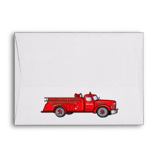 Classic Fire Engine Envelope