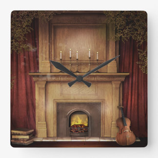 Classic Fireplace Wall Clock