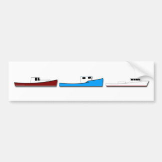 Classic Fishing Boats Bumper Sticker