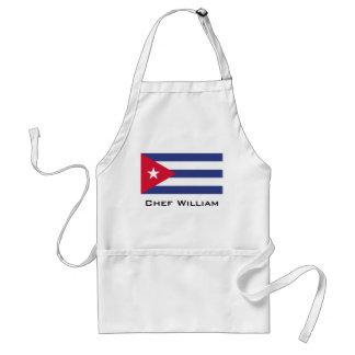 Classic Flag of Cuba Adult Apron