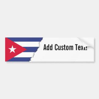 Classic Flag of Cuba Bumper Sticker