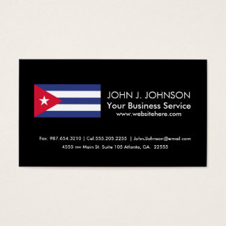 Classic Flag of Cuba Business Card