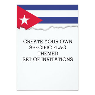 Classic Flag of Cuba Card