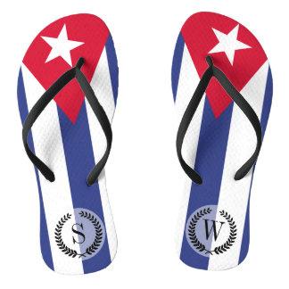 Classic Flag of Cuba Flip Flops