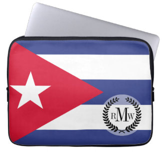 Classic Flag of Cuba Laptop Computer Sleeves