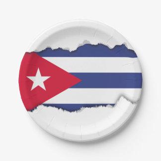 Classic Flag of Cuba Paper Plate