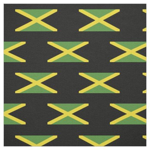 Classic Flag Of Jamaica Fabric Zazzle Com