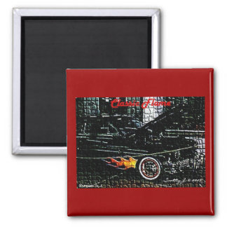 Classic Flame © copyright 2009 S.J. 2 Inch Square Magnet