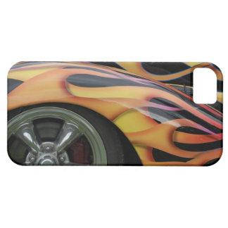 Classic Flaming Car iPhone 5 Case Mate