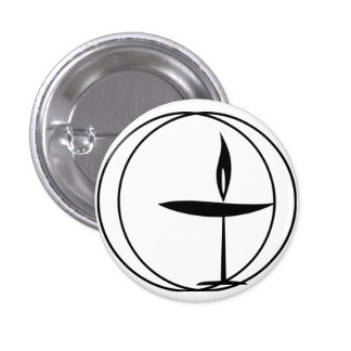 """Classic """"Flaming Chalice"""" Button"""