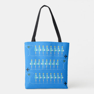 Classic Flight Attendant All-Over Print Tote Bag