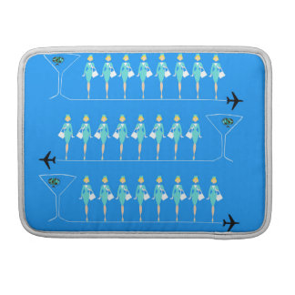 Classic Flight Attendant MacBook Pro Sleeve