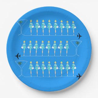 Classic Flight Attendant Paper Plate 9 Inch Paper Plate